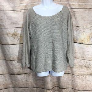 Pure Jill Medium grey knit sweater medium comfy